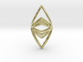 Silk Hand No.090 ,Pendant in 18k Gold Plated