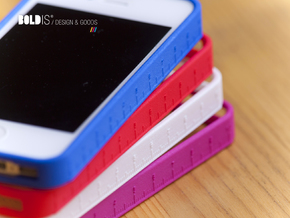 Ruler Bumper for iPhone 4   4s in White Strong & Flexible Polished
