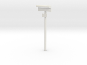 DSB Stations lampe med stationsskilt og lille unde in White Strong & Flexible