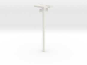 DSB Stations lampe med spornummer (dobbelt) VIA 1/ in White Strong & Flexible