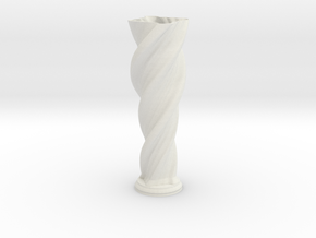 "Vase 'Anuya' - 50cm / 19.5"" in White Strong & Flexible"