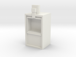Newspaper rack 1/29 scale in White Strong & Flexible