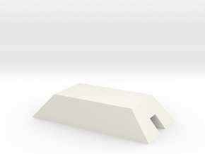 1/350 Concrete Bunker 2 in White Strong & Flexible