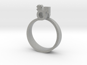 Male-Female Linked ring (US size#6) in Metallic Plastic