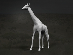 Giraffe 1:32 Standing Male in White Strong & Flexible