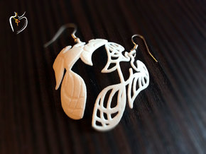 Phoenix Earrings (conture + filled) in White Strong & Flexible