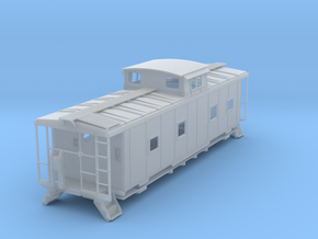 ACL M5 Caboose, split window - HO in Frosted Ultra Detail
