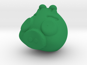 Green piggy in Green Strong & Flexible Polished