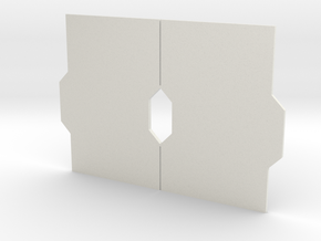 Interior Door Panel Set - Closed in White Strong & Flexible
