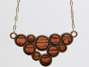 Wood Bubbles in Polished Gold Steel