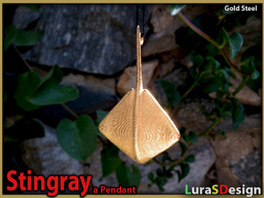 Stingray Pendant in Stainless Steel