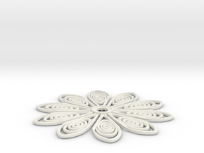60mm medium tos insignia starfleet flower in White Strong & Flexible