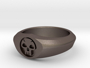 MTG Swamp Mana Ring (Size 15 1/2) in Stainless Steel