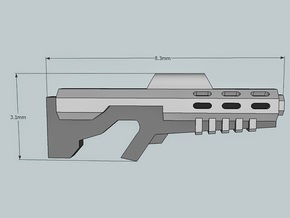 """""""Sculptor's Pack"""" 15mm M-71 Sci-Fi Rifles (12 pcs) in Frosted Extreme Detail"""