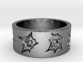 Outlaw Bullet Holes Ring Size 11 in Polished Silver