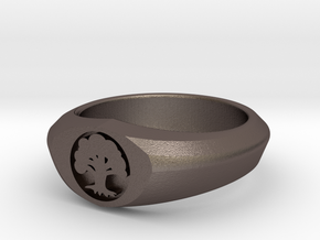 MTG Forest Mana Ring (Size 15 1/2) in Stainless Steel