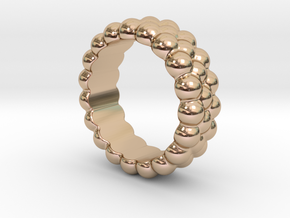 RING BUBBLES 18 - ITALIAN SIZE 18 in 14k Rose Gold Plated