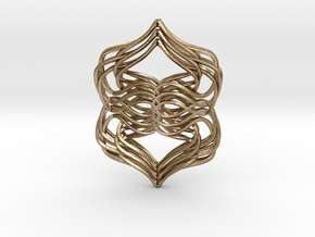 Weaver's Pendant in Polished Gold Steel