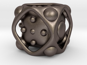 Dice No.2 M (balanced) (2.4cm/0.95in) in Stainless Steel