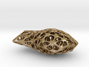 Voronoi Blobject in Polished Gold Steel