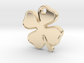 Four Leaf Clover, Lucky Charm in 14k Gold Plated