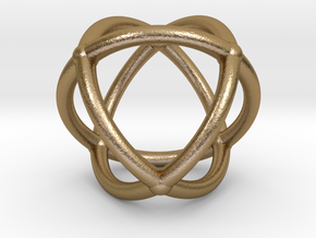 0072 Stereographic Polyhedra - Octahedron in Polished Gold Steel