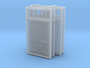 S Scale Booking Station Standard Door Set in Frosted Ultra Detail
