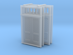 O Scale Booking Station Standard Door Set in Frosted Ultra Detail