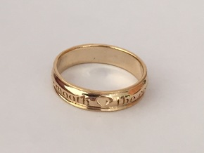 A Midsummer's Night Dream Ring Sz 6 in 18k Gold Plated