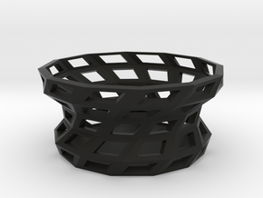 Twisted shapes bowl in Black Strong & Flexible
