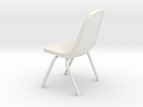 1-12.Plastic Scoop Chair  in White Strong & Flexible
