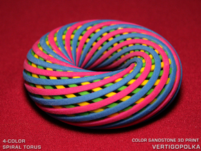 4-Color Spiral Torus in Full Color Sandstone
