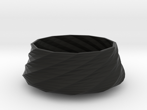 Twisted bowl in Black Strong & Flexible
