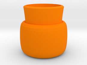 2 layers vase in Orange Strong & Flexible Polished
