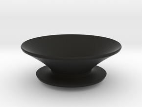 Round fruit bowl in Black Strong & Flexible