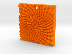 Holes spiral in Orange Strong & Flexible Polished
