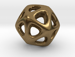 Icosahedron - 2.3cm in Raw Bronze