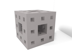 Menger Sponge Pendant/Charm/Sculpture in Stainless Steel