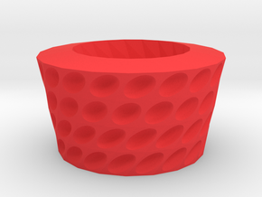 Ovals pattern bowl in Red Strong & Flexible Polished