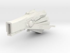 LoGH Imperial Fast Battleship 1:3000 (Part 2/2) in White Strong & Flexible