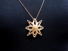 Shinto Pendant #2269 in Polished Gold Steel