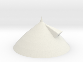 3d Shuttle Tank Nose Cone in White Strong & Flexible