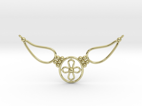 pendant with flower in 18k Gold Plated