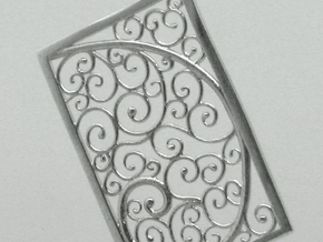 Silver Filigree Rectangle Pendant in Raw Silver