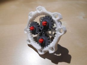 LEGO®-compatible 40-teeth ring gear in White Strong & Flexible