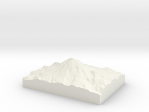 Mt. Rainier: Topophile Model #0001 in White Strong & Flexible