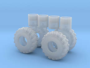 1/87th log skidder or construction tires in Frosted Ultra Detail