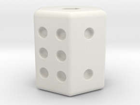 D6 Dice in White Strong & Flexible