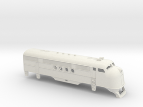 Z Scale EMC FT Locomotive Shell in White Strong & Flexible