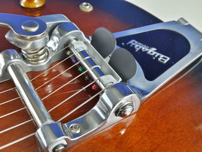 Bridge Pick Holder - Bigsby Tremolo in Polished Metallic Plastic